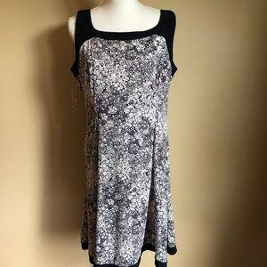 Chaps | NWT Dark Navy and White Dress  XL